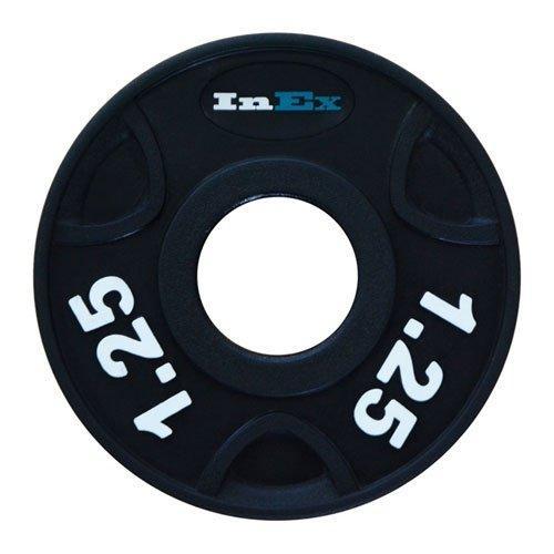 Диск обрезиненный с 3 отверстиями INEX GRP-N, вес: 1.25 кг 10300 - вид 1