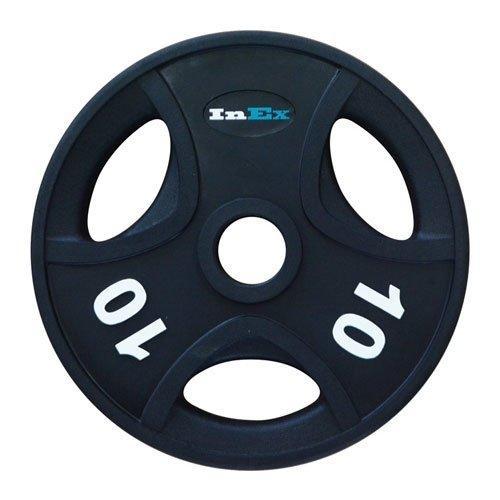 Диск обрезиненный с 3 отверстиями INEX GRP-N, вес: 10 кг 10301 - вид 1