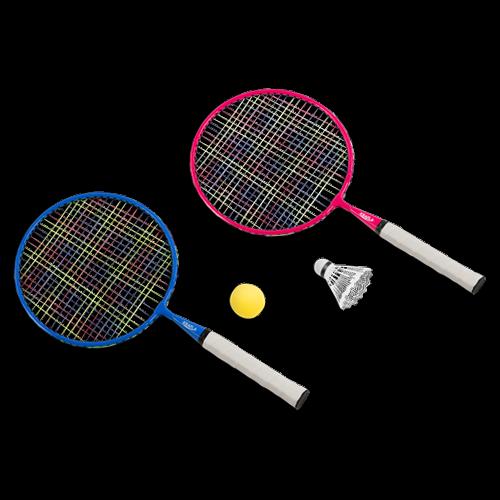 KRAFLA Fun 200 Набор для бадминтона: ракетка (2 шт), волан, поролоновый мяч KRAFLA Fun 200 Набор для бадминтона: ракетка (2 шт), волан, поролоновый мяч - вид 1