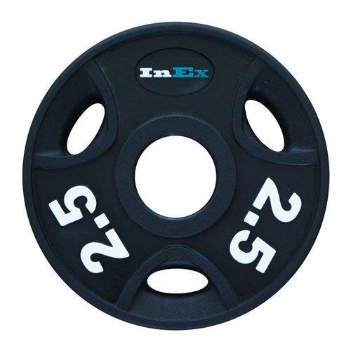 Диск обрезиненный с 3 отверстиями INEX GRP-N, вес: 2.5 кг 10303 - вид 1