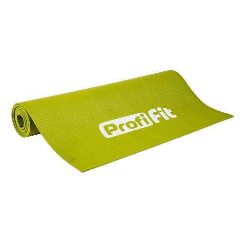 Коврик для йоги и фитнеса 4 мм ПРОФ ПЛЮС (светло-зеленый) PF-YM4-GN - вид 1