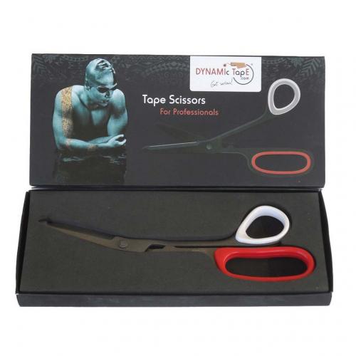 Ножницы для тейпов Dynamic Tape Teflon, арт. DT-SC, нерж. сталь, тефлон. покр., черн-крас-бел  - вид 1