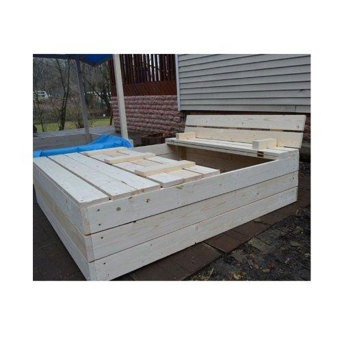 Песочница деревянная 1,5м без лака 12008 - вид 1