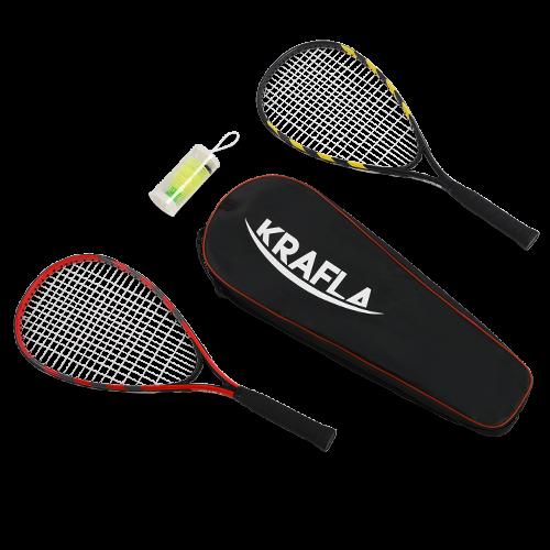 KRAFLA S-SP500 Набор для спидминтона: ракетка (2шт), волан (3шт), чехол KRAFLA S-SP500 Набор для спидминтона: ракетка (2шт), волан (3шт), чехол - вид 1