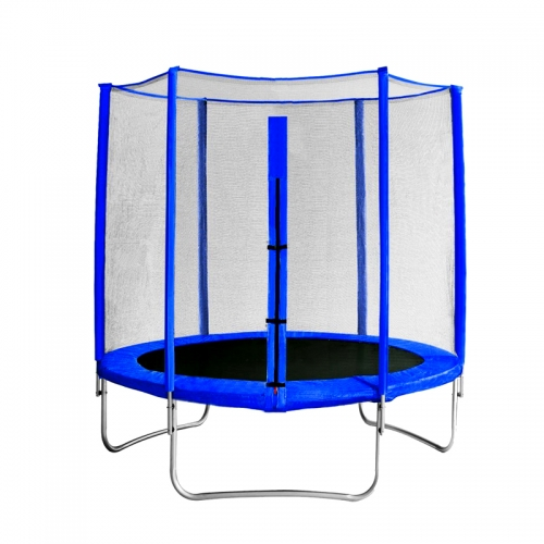 "Батут с защитной сеткой ""Trampoline 8"" диаметр 2,4 м синий SG000005077 - вид 1"