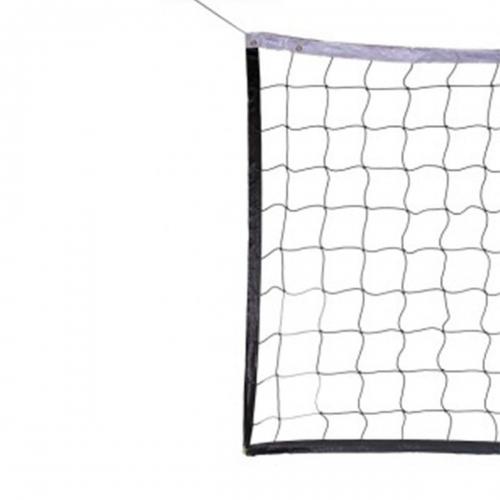 Сетка волейбол Д3,0 мм яч. 100*100 белый Разм. 1,0*9,5 м обш. с 4-ех сторон, верх-низ лента 5 см ПА 10030 - вид 1