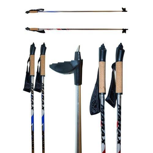 Лыжные палки Marax алюминий, с капканом, ручка пробка, 100-170 см 12110 - вид 1