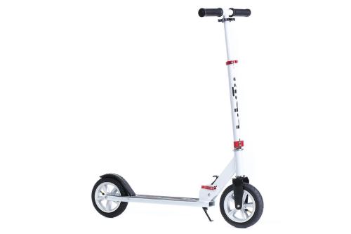Самокат BIBITU CROSS SKL-037-AWS, надувные колеса, белый SKL-037-AWS CROSS - вид 1