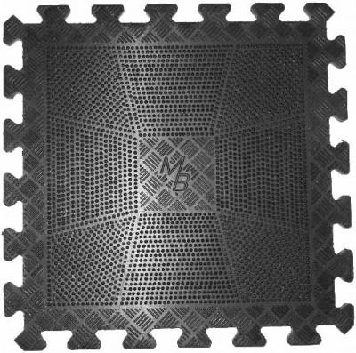 Коврик резиновый Barbell 400 х 400 х 20 мм чёрный 603 - вид 1