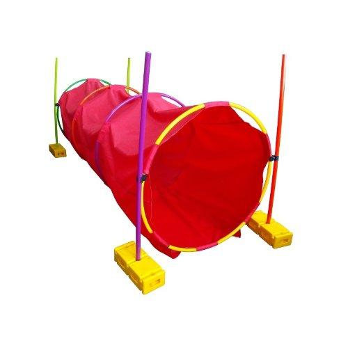 Тоннель детский игровой круглый 2 м (обручи,палки,кирпичики) 11912 - вид 1