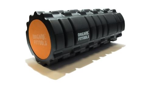 Цилиндр массажный 33 x 14 см черный двойной FT-DOUBLE-ROLL - вид 1