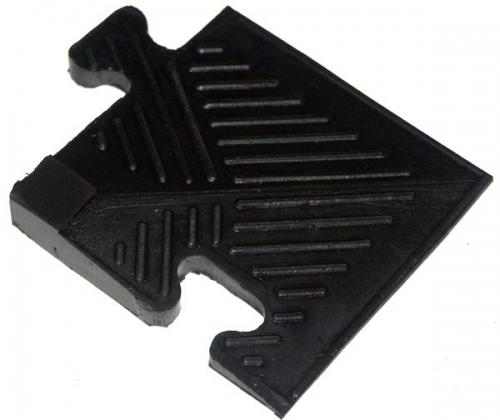 Уголок резиновый для бордюра Barbell 20 мм чёрный 613 - вид 1
