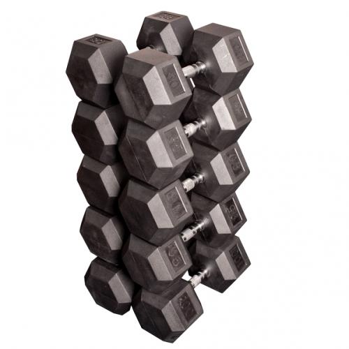 Набор гексагональных гантелей: 5 пар от 36 кг до 45 кг (шаг 2,25 кг) SDRS900 - вид 1