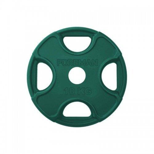 Обрезиненный диск FOREMAN FMPRR-10KGGN (10 кг) 10318 - вид 1