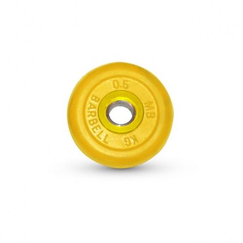 Диск обрезиненный Barbell d 31 мм цветной 0,5 кг 417 - вид 1