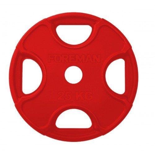 Обрезиненный диск FOREMAN FMPRR-25KGRD (25 кг) 10321 - вид 1