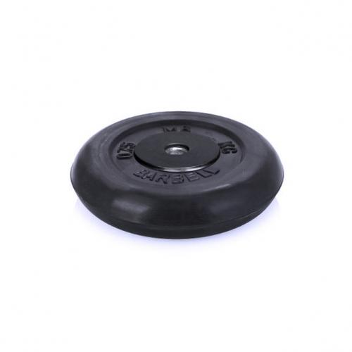 Диск обрезиненный Barbell d 26 мм чёрный 0,75 кг 407 - вид 1