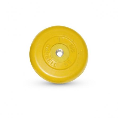 Диск обрезиненный Barbell d 26 мм цветной 1 кг 1546 - вид 1