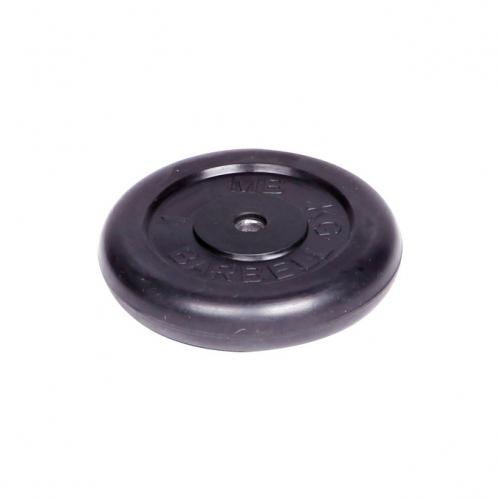 Диск обрезиненный Barbell d 26 мм чёрный 1 кг 408 - вид 1