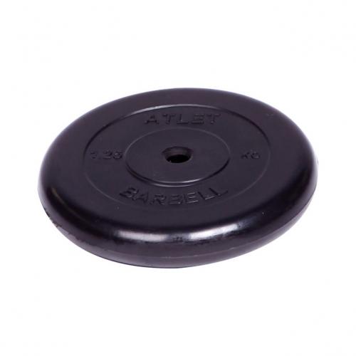 Диск обрезиненный Barbell Atlet d 26 мм чёрный 1,25 кг 2477 - вид 1