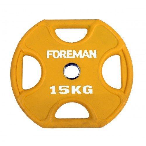 Диск X-Training уретановый цветной FOREMAN FM/UPX-15KG-YL (15 кг) 10328 - вид 1
