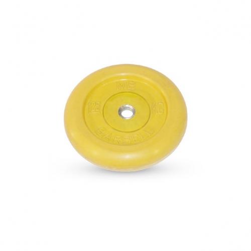 Диск обрезиненный Barbell d 26 мм цветной 1,25 кг 398 - вид 1