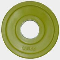 """Олимпийский диск евро-классик, серия """"Ромашка"""" 1.25 кг. RP7_1.25 - вид 1"""