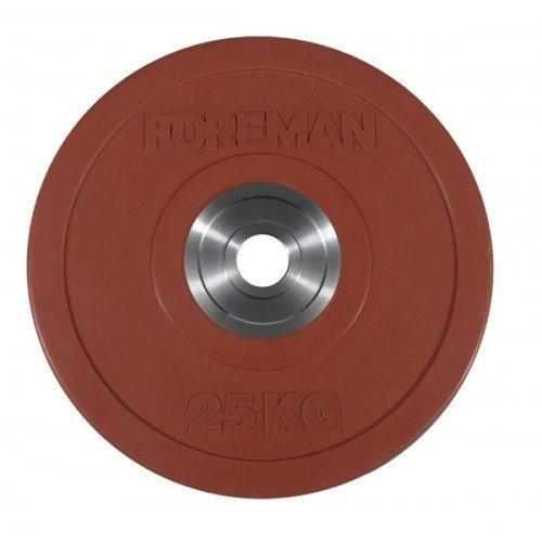 Диск бампированный обрезиненный цветной FOREMAN FM/BM-25KG-RD (25 кг) 10334 - вид 1