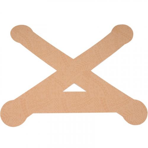 Тейп динамический PosturePals X tape, арт. PP-X-TL, преднарезка, р. L, 5 шт. в уп., телесный  - вид 1
