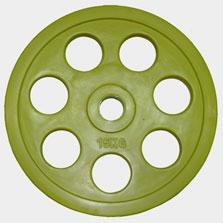 """Олимпийский диск евро-классик с хватом """"Ромашка"""", 15 кг. RP7_15 - вид 1"""