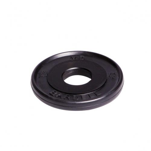 Диск олимпийский Barbell d 51 мм чёрный 1,25 кг 463 - вид 1