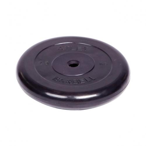 Диск обрезиненный Barbell Atlet d 26 мм чёрный 2,5 кг 2478 - вид 1