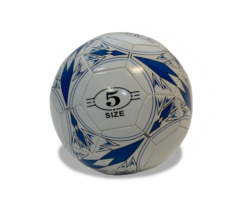Мяч футбольный, размер 5, PVC, вес 390-420 гр, синий MFB072 - вид 1