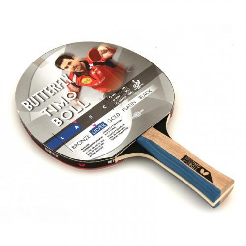 Ракетка для н/т Butterfly Timo Boll silver, для тренировок, накладка 1,5 мм ITTF, анатом./кон. ручка  - вид 1