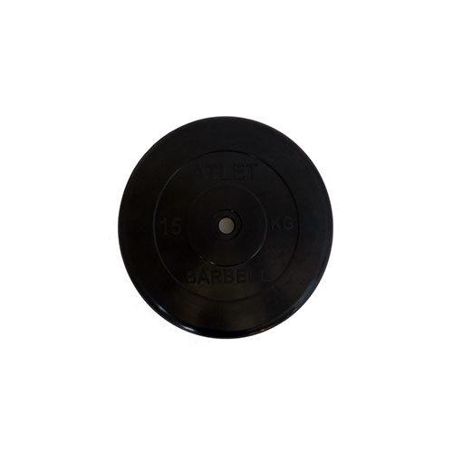 Диск обрезиненный черный MB ATLET d-26 15кг MB-AtletB26-15 - вид 1
