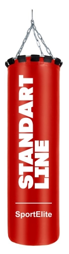 Мешок боксерский SportElite STANDART LINE 120см, d-34, 45кг, красный SL-45R - вид 1