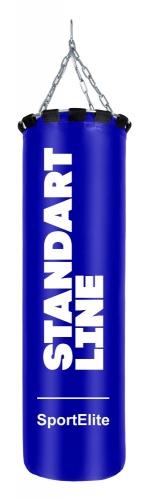 Мешок боксерский SportElite STANDART LINE 120см, d-34, 45кг, синий SL-45B - вид 1