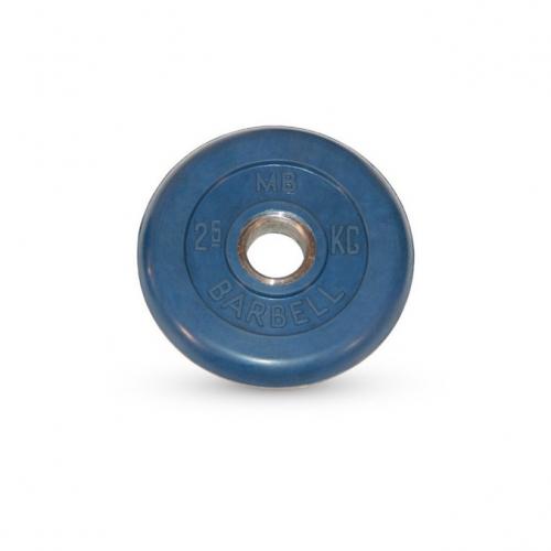 Диск обрезиненный Barbell d 51 мм цветной 2,5 кг 442 - вид 1