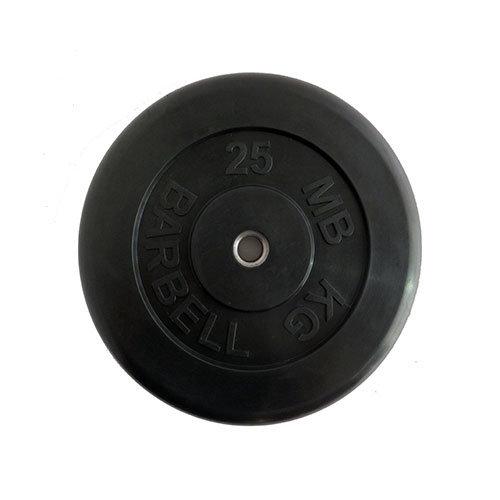 Диск обрезиненный черный MB ATLET d-26 25кг MB-AtletB26-25 - вид 1