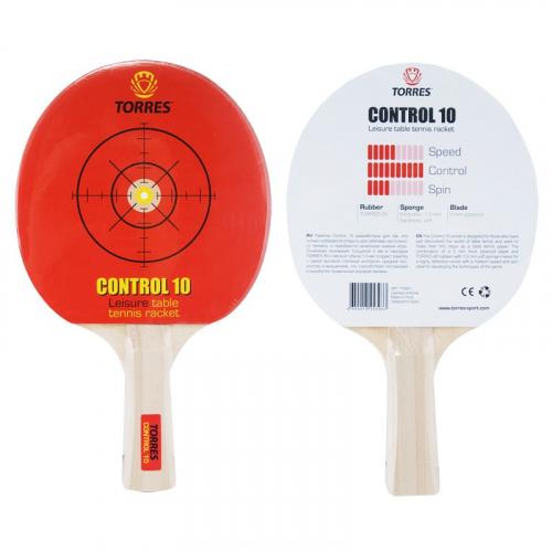 Ракетка для н/т TORRES Control 10, арт.TT0001, для начинающих, накладка 1,5 мм, конич. ручка  - вид 1