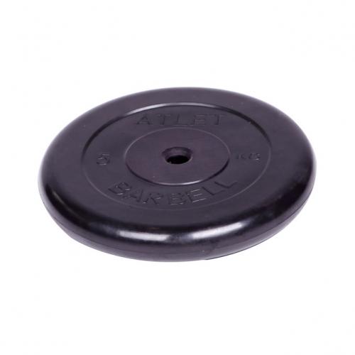 Диск обрезиненный Barbell Atlet d 26 мм чёрный 5 кг 2479 - вид 1
