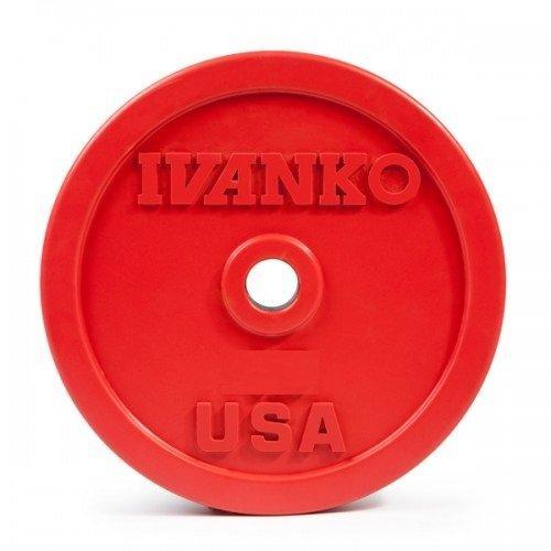 Бампированный обрезиненный диск IVANKO OBP-25KG (25 кг) 10347 - вид 1