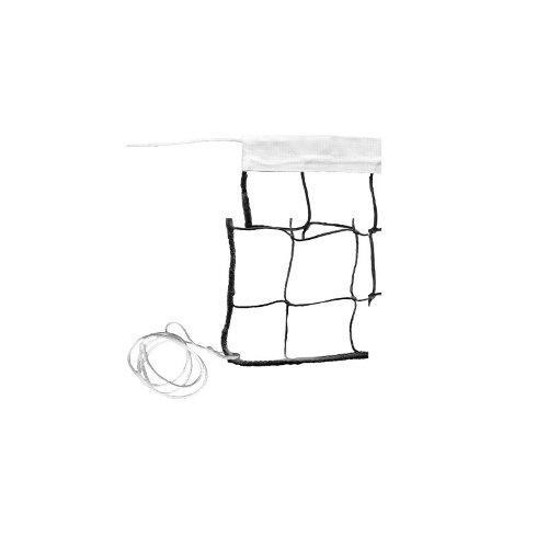 Сетка волейбольная Ø- 2,2мм, черная, обшитая капроном с 1-й стороны М376В - вид 1