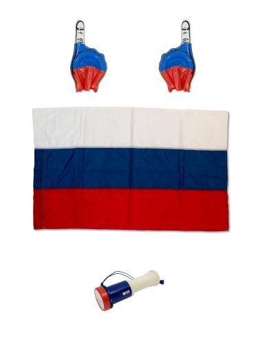 Набор фаната (флаг 90х135, две надувные руки и дудка) FAN-SET - вид 1