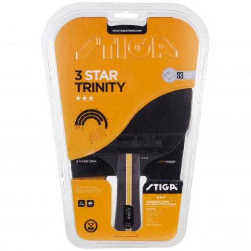 Ракетка для н/т Stiga Trinity WRB 3***, арт.1213-3616-01, трениров, накл. 2,0 мм ITTF, конич. ручка  - вид 1