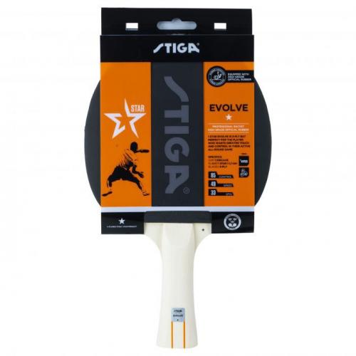 Ракетка для н/т Stiga Evolve WRB 1*, арт.1211-8318-01, для любит., накл. 1,7мм ITTF, конич. ручка  - вид 1