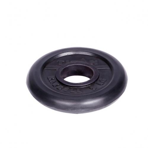 Диск обрезиненный Титан d 51 мм чёрный 5 кг 1077 - вид 1