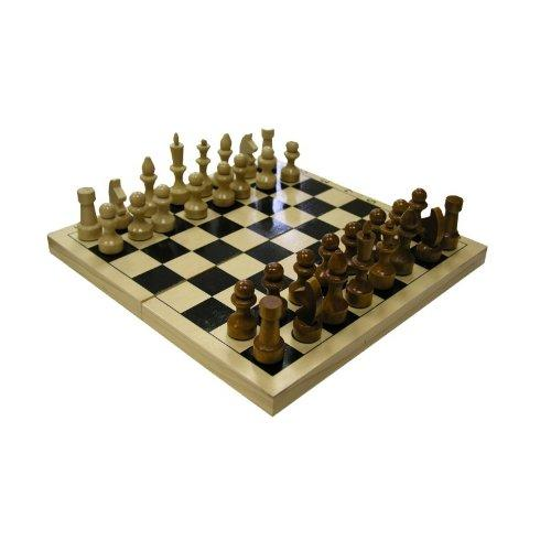 Шахматы обиходные лакированные с доской 290*145*38 12054 - вид 1