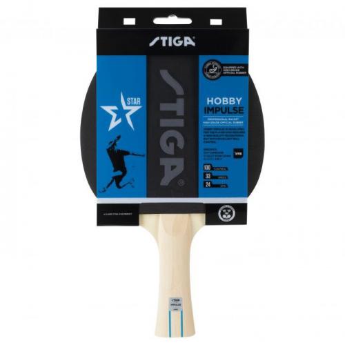 Ракетка для н/т Stiga Hobby Impulse WRB, арт.1210-6418-01, для начин., накл.1,6мм ITTF, конич. ручка  - вид 1