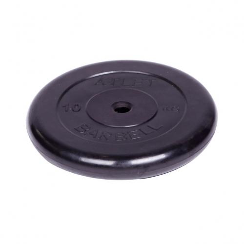 Диск обрезиненный Barbell Atlet d 26 мм чёрный 10 кг 2480 - вид 1